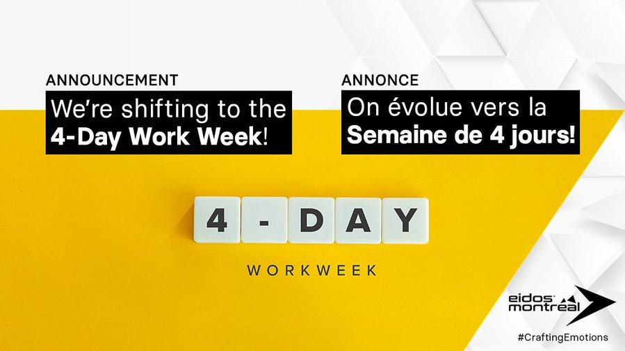 Eidos-Montreal 跟 Eidos-Sherbrooke 將改為每週工作4天 thumbnail