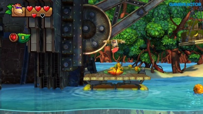 《大金剛 熱帶急凍》任天堂Switch版本 - 關卡1-1 Funky Kong Gameplay