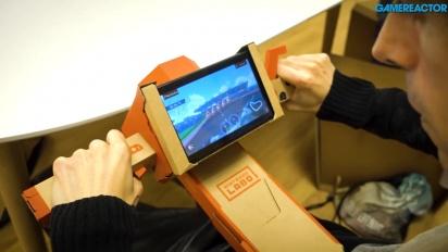 任天堂實驗室:多樣化包 - 釣魚竿和摩托車Toy-Con Gameplay