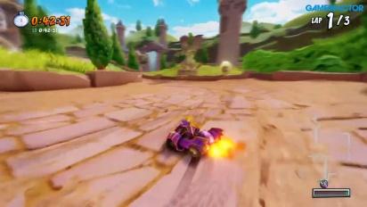 《袋狼大進擊賽車》-  Spyro Circuit Gameplay