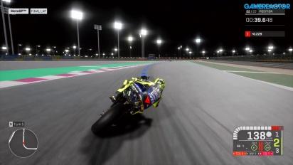 《世界摩托車錦標賽19》-初階卡達夜晚賽車 Gameplay