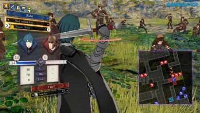 《聖火降魔錄 風花雪月》- 戰鬥場景遊戲實機操作