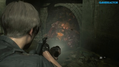 《惡靈古堡2》- 里昂遊戲片段