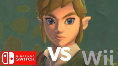 《薩爾達傳說 禦天之劍》- 任天堂 Switch vs Wii 畫質比較