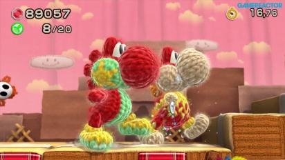Yoshi's Woolly World - World 1 Co-op Gameplay (1-7, 1-6)