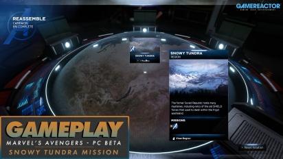 《漫威復仇者聯盟》 - 雪域苔原任務 & HARM 教學 PC Beta 測試 Gameplay