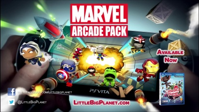 Little Big Planet Vita - Marvel Arcade Pack Trailer