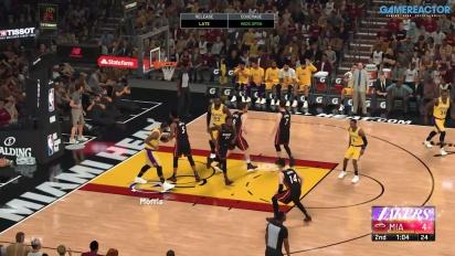《NBA 2K21》 - Jogabilidade 洛杉磯湖人 VS 邁阿密熱火
