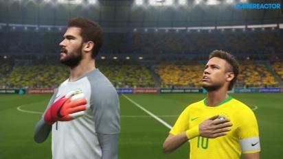 《實況足球2018》- 數據包4.0 更新 - 完整賽事:巴西 - 西班牙