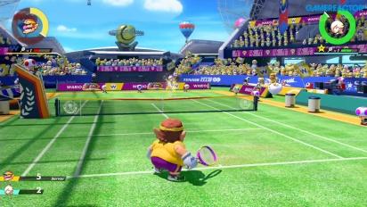 《瑪利歐網球 王牌高手》- 壞利歐 vs 羅潔塔 專業級別 Gameplay