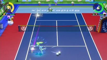 《瑪利歐網球 王牌高手》-  線上 Gameplay 碧姬公主 vs. 史派克