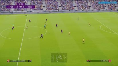 《實況足球 2020》- 巴塞隆納足球俱樂部 vs.兵工廠 Gameplay