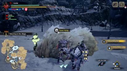 Monster Hunter Rise - Goss Harag Battle (Gameplay)