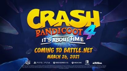 Crash Bandicoot 4: It's About Time - New Platforms Launch Trailer