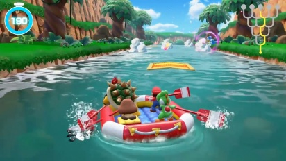 Super Mario Party - River Survival Mode Gameplay
