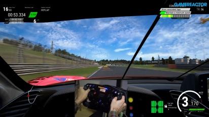 《出賽準備競爭》- Ferrari 488 GT3 賽車方向盤與踏板  Gameplay