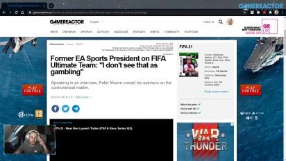GRTV 新聞 - 前任 EA Sports 總裁針對 FIFA Ultimate Team 發表評論