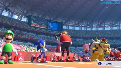 《瑪利歐與音速小子AT東京奧運》- 110米跨欄 Gameplay