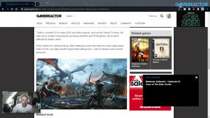 GRTV 新聞 - 《上古卷軸6》不會因為Todd Howard 參與《印第安那瓊斯》遊戲而受到影響