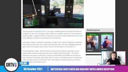 GRTV 新聞 -  《戰地風雲2042》beta 獲得褒貶不一評價
