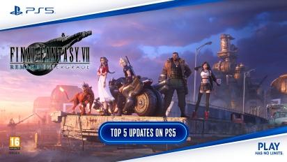 《Final Fantasy VII 重製版 Intergrade》 - PS5 上的前5名更新