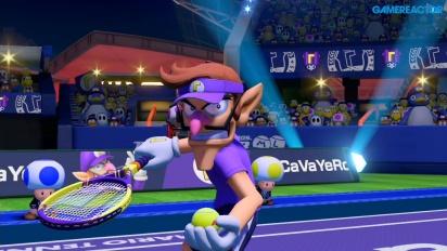 《瑪利歐網球 王牌高手》- 壞路易吉 vs 耀西 Demo Gameplay