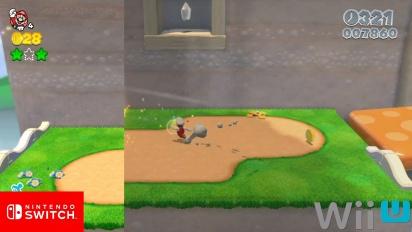《超級瑪利歐3D世界》- 任天堂Switch vs Wii U 圖形比較