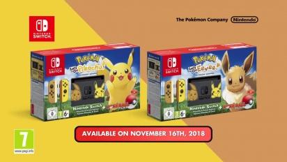 Nintendo Switch - Pikachu & Eevee Edition Trailer
