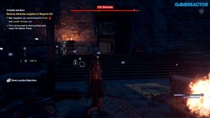 《刺客教條:奧德賽》- 夜晚在 Megaris 的雅典堡壘 Gameplay