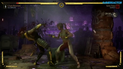 Mortal Kombat 11 - Scorpion vs. Sonya Reveal Event Gameplay