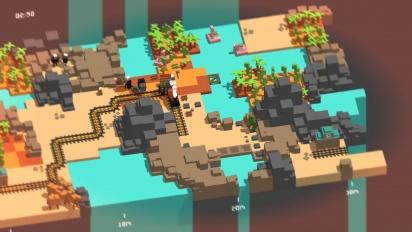 《Unrailed》 - 開發者玩給你看 快速遊玩(沙漠,困難)