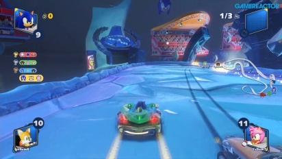 《音速小子搭檔組隊大賽車》- 冰凍的垃圾場多人賽車