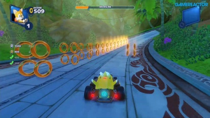 《音速小子搭檔組隊大賽車》- 失落的宮殿賽道挑戰 Gameplay